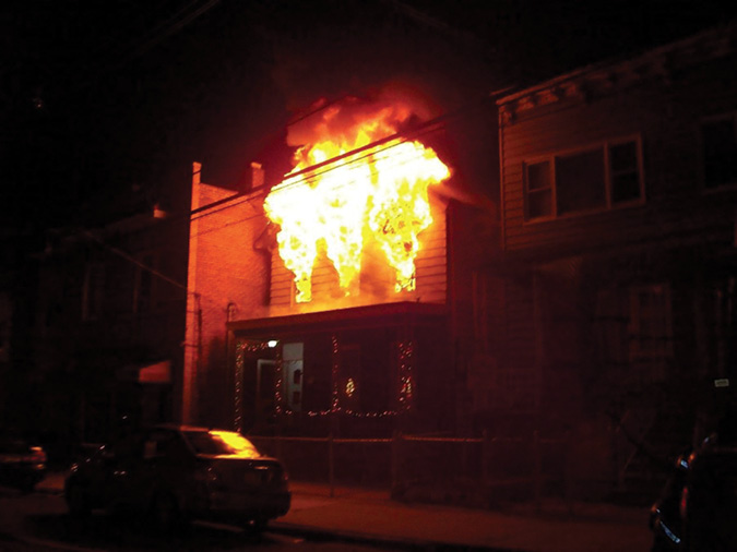 """Just because there is a fire does not mean the format of the report should change: """"Dispatch: Engine 4 is on the scene. 312-43rd St. is a 2½-story wood-frame residential occupancy with a peaked roof, unattached. Have heavy fire Side A, second floor. Both exposures imminently threatened. Engine 4 will be stretching a line and establishing 43rd St. Command. Strike a second alarm."""""""