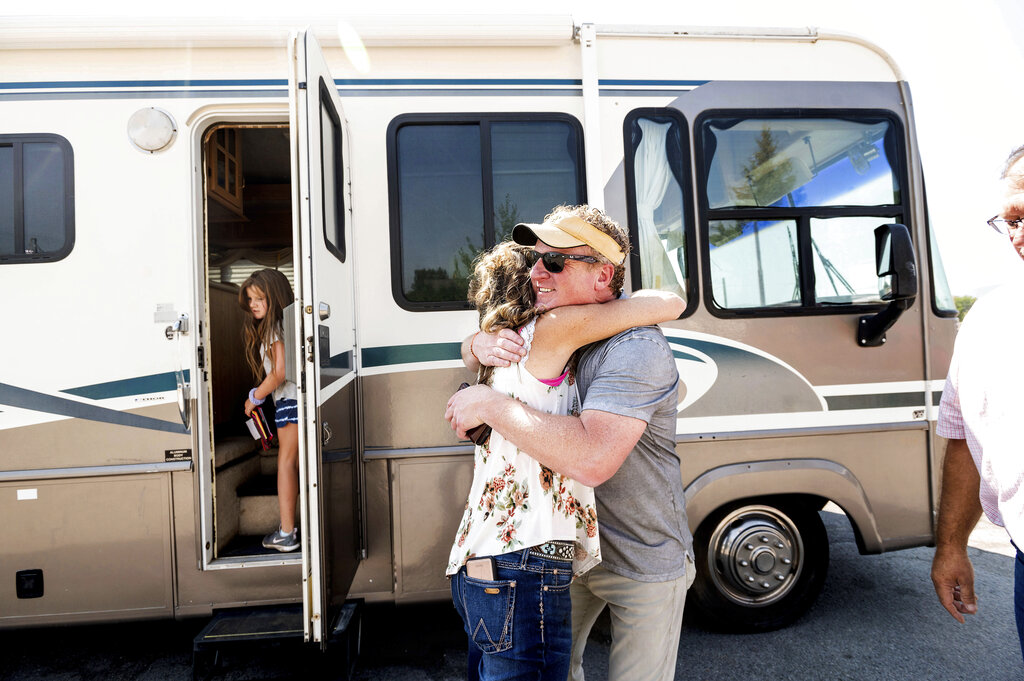 CA Wildfire Victims Left with Nothing Get Hope from Donated RVs