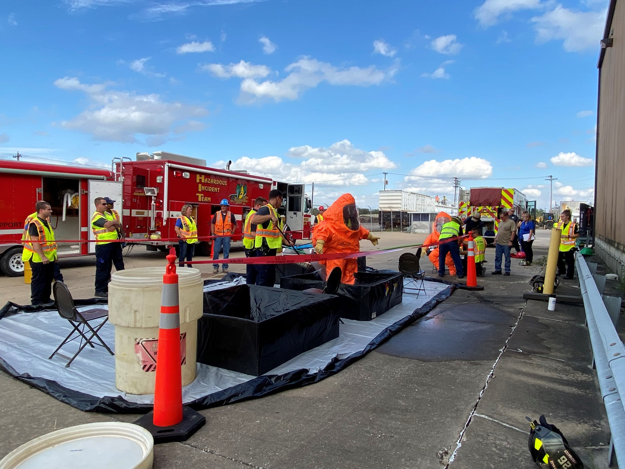 Burlington (IA) Fire Department Trains for HazMat Emergency with Help Via BNSF, Amtrak
