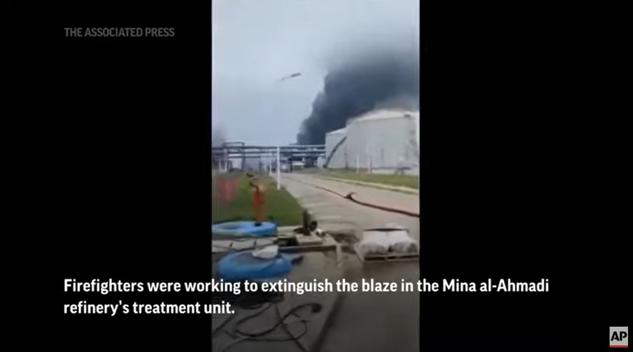 Fire Erupts at Kuwait Oil Refinery