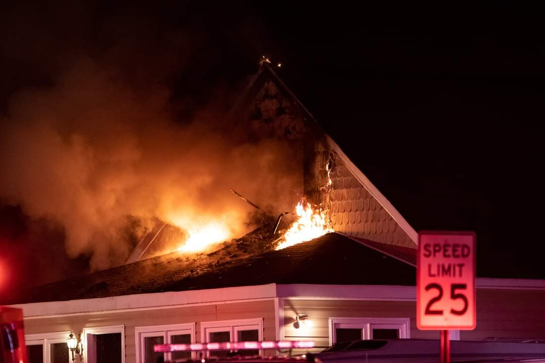 Edgewater (MD) House Fire Displaces Two; Sends Man, Firefighter to Hospital