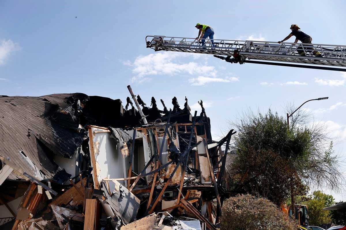 Investigators: Man Shot into Dallas Apartment, Causing Blast That Injured Firefighters
